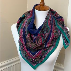 Stunning vintage Bill Blass scarf